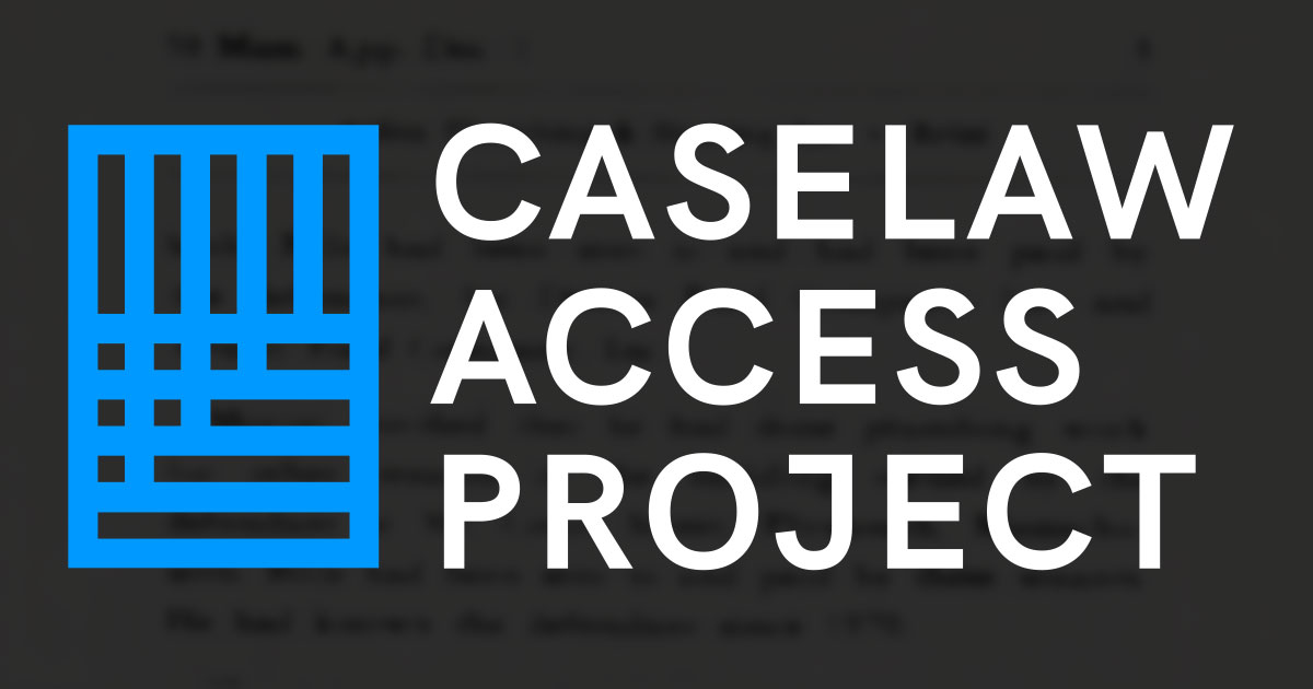 caselaw-access-project-cap